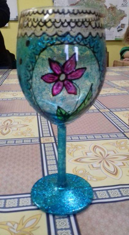 dekorování skla barvami