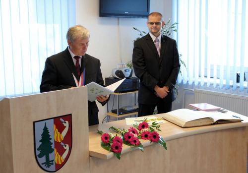 J. Bejček, starosta aD. Kádner, místostarosta